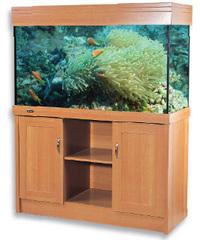 Aqua one regal 120 aquarium beech cabinet at aquarist for 200 gallon fish tank dimensions
