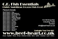 Frozen Beef Heart Fish Food ONLY �3.29 (125g) / �10.99 (500g) / �19.99 (1kg) www.beef-heart.co.uk