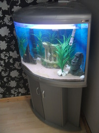 Aqua One Silver Ufo 700 Corner Fish Tank Aquarium