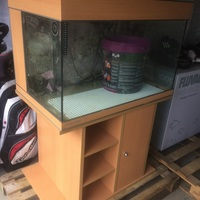 MUST GO BEST OFFER. AQUA MEDIC REEF TANK 3FT X 2FT X2FT WITH CABINET REDUCED