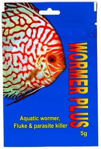 WORMER PLUS WORMER PLUS, AQUATIC FISH WORMER, FLUKE & PARASITE KILLER.