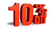 10% Off everything this weekend.