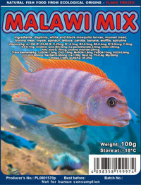 Frozen Fish Food - Over 20 varieties of High Quality - Gamma Ray Irradiated