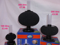 NEW Sponge Filters now available