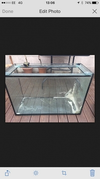 (3 X 2 X 2) 36 X 15 X 24 inches 10mm glass aquarium