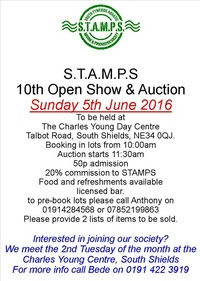 STAMPS FISH AUCTION & SHOW 5th June 2016
