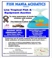 CHARITY FISH AND EQUIPMENT AUCTION SUNDAY 26TH FEBRUARY