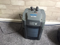 External canister filter and fish tank ornaments