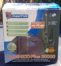 SUPERFISH POND ECO PLUS 20000 PUMP - �5.00 ono