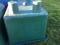 1450 LITRE FIBREGLASS KOI HOLDING VAT. SECOND HAND ONLY �0.