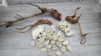 Driftwood, rocks and gravel for sale