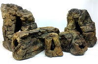 Aquarium Rocks for cichlids and tropical fish tank - empty inside