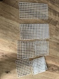 various sizes of egg crates for sale