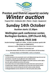 Preston and District Winter auction - THIS WEEKEND