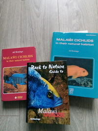 Three books on Malawi cichlids