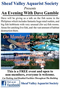 Sheaf Valley Aquarist Society Present an Evening with Dave Gamble