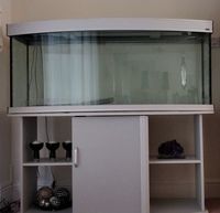 Aqua One Bow Front 5 Foot Fish Tank with External Filter System and Base Cabinet