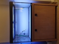 Fluval Roma 200 with Cabinet, external filter, RO system accessories.