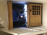 Aqua oak 110cm wine rack, custom tank and sump