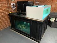 Reduced price 6x4x3 Fibreglass Pond with Viewing Window and Equipment