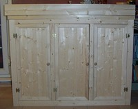 Hand Made Pine aquarium cabinets and lids