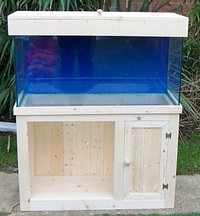 Pine aquarium Cabinets and lid made to order.
